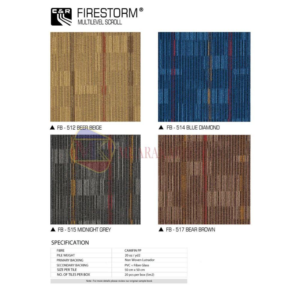 Karpet Tile Firestorm