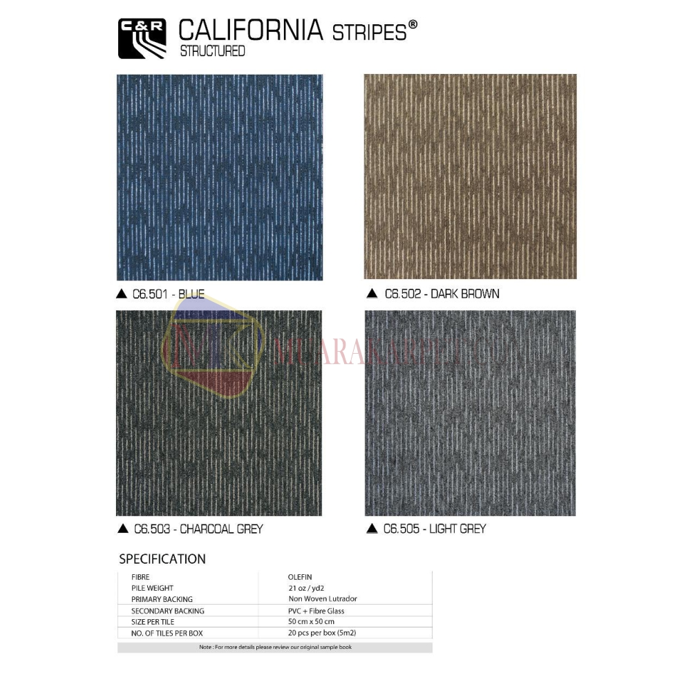 KarpetTileCalifornia Stripes